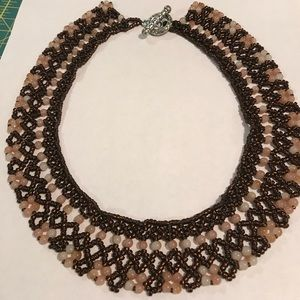 Cafe beaded necklace RBG style